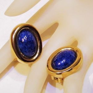 Gorgeous Vintage Dior Lapis Earrings